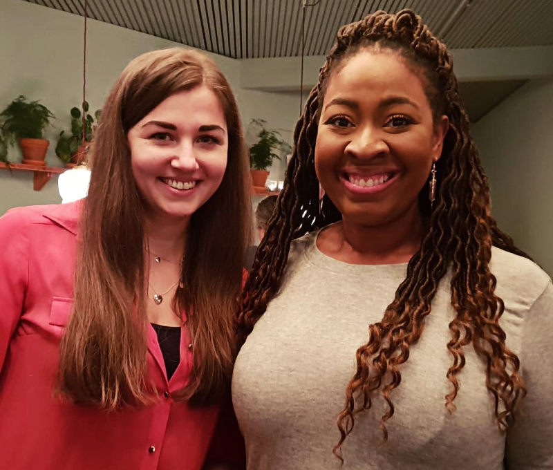 Ramona von Kielfeder und Brittainy C. Cherry auf der Frankfurter Buchmesse-LYX-Abend