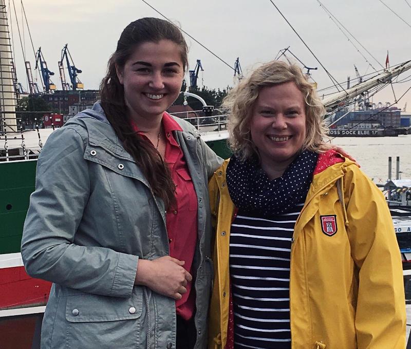 Ramona Nicklaus und Petra Hülsmann beim Bloggertreffen-Monatsrückblick Mai