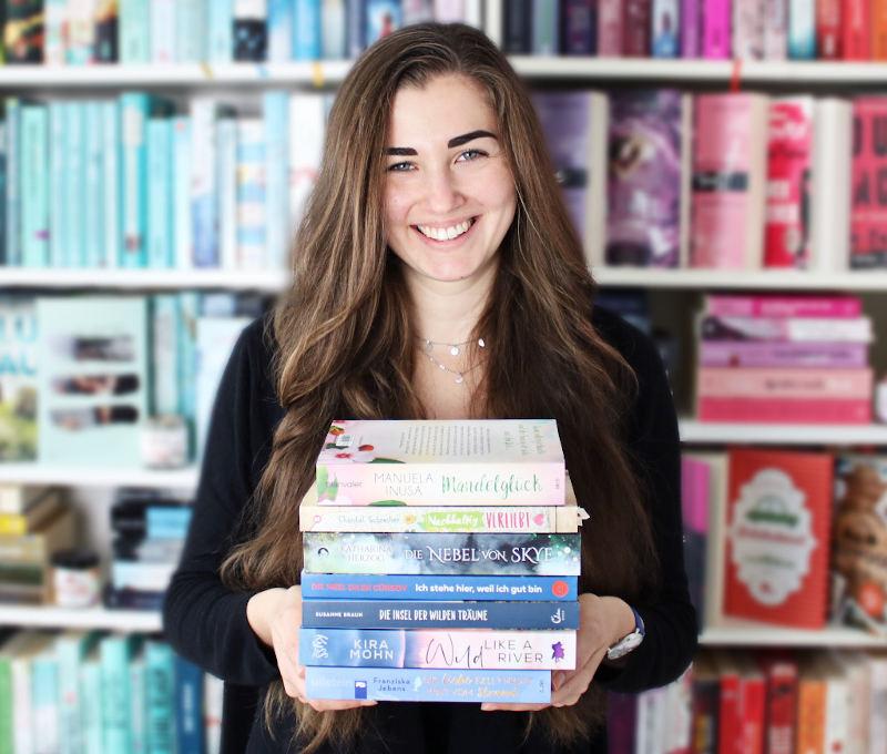 Gelesene Bücher Bücherstapel im September-Monatsrückblick September 2020