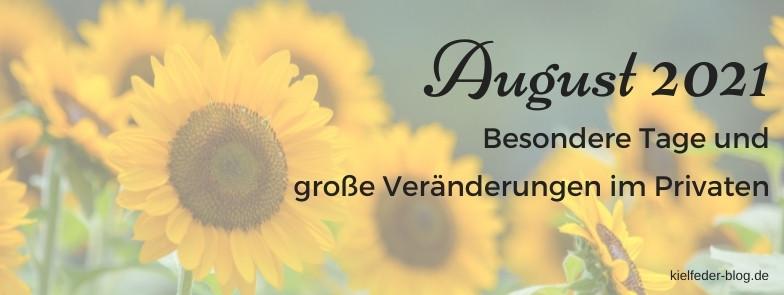 Monatsrückblick August 2021-Buchblog Kielfeder